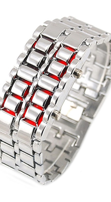 silver red led